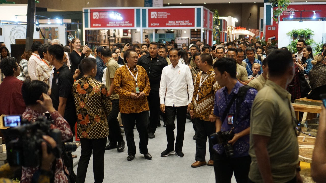 Indonesia International Furniture Expo (IFEX) 2019 Presiden Jokowi Kunjungi IFEX