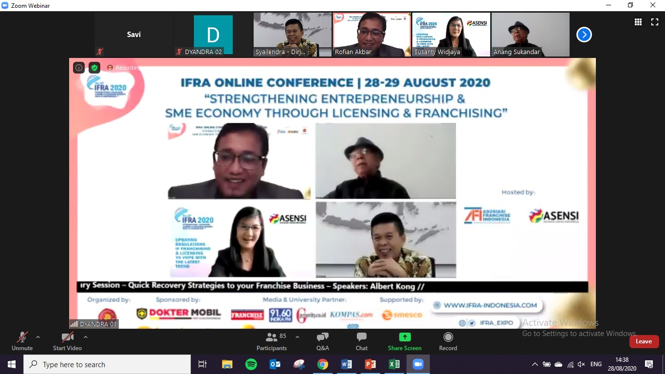 IFRA : Konferensi Daring Membagikan Kiat dan Strategi Bisnis di Masa Pandemi