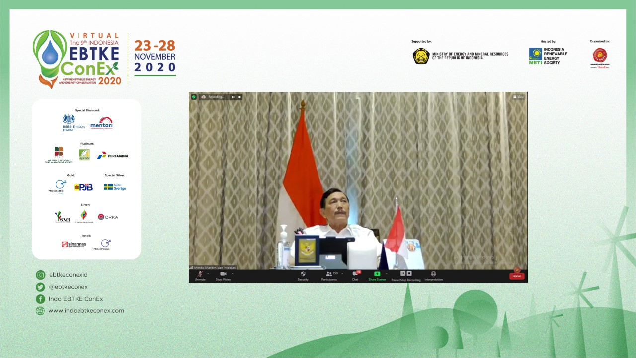 The 9th Indonesia EBTKE Virtual Conference and Exhibition 2020 : Tumbuhkan Optimisme Transisi Menuju Energi Terbarukan di Indonesia