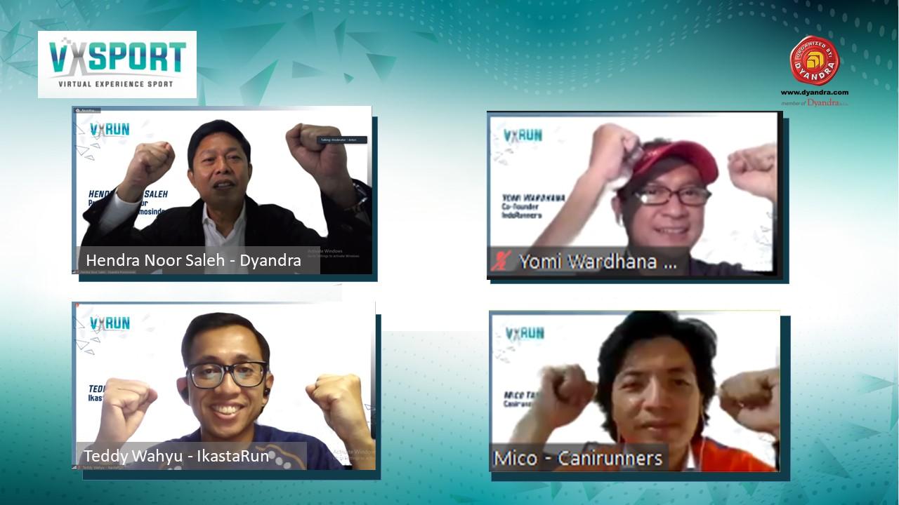 Virtual Experience Sport 2020: VXRun Mengajak Masyarakat Berlari dan Berdonasi Di tengah Pandemi